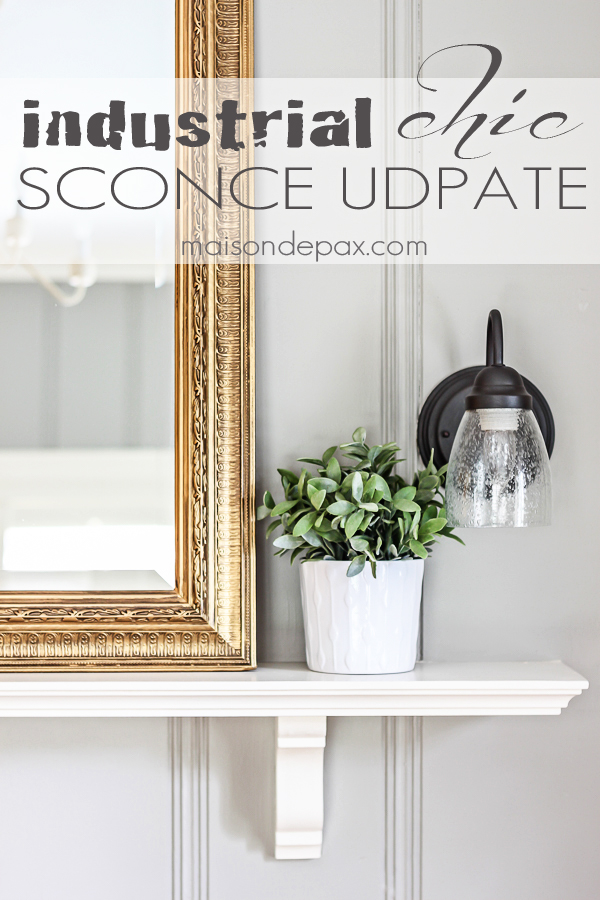 MUST-KNOW:  How to Update an Old Sconce  >  http://www.maisondepax.com/2015/03/how-to-update-an-old-sconce.html#_a5y_p=3597005  —  If you absolutely can't afford truly spectacular lighting, try something like this. Whenever I look for lighting for clients, I always place a lot of importance of the color of their glass shades. They're such a big deal. The gold colored glass on light fixtures, like the one you'll see here, really dates them, making the home feel tired and stuck in 2005. Just goes to show that some new shades and a little paint can go a long way!  | Image Source: MaisonDepax.com