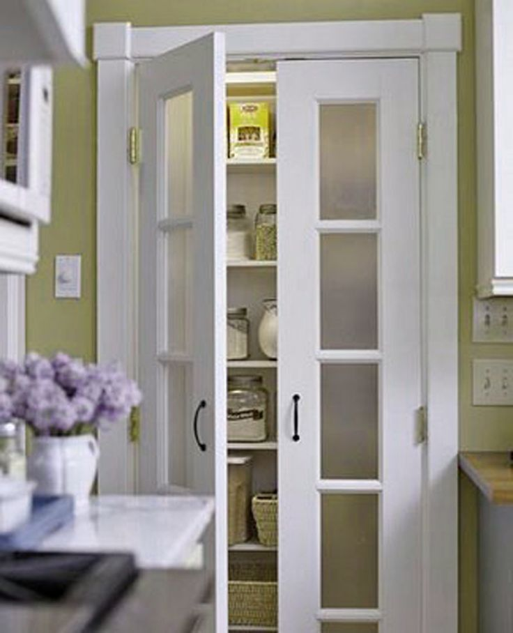 Great pantry door in the kitchen | Image source: bhg.com