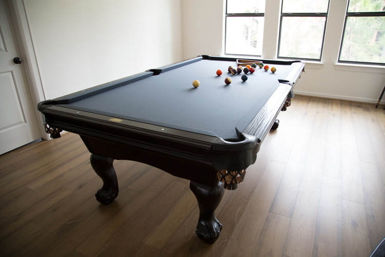 An Old Pool Table Is Restored To Complement A Contemporary ...
