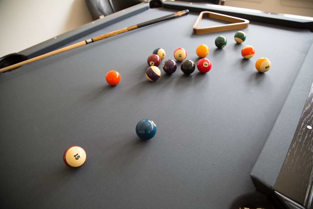 An Old Pool Table Is Restored To Complement A Contemporary Interior - Pool table resurfacing