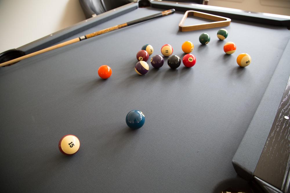 Pool table restoration | Interior Designer: Carla Aston