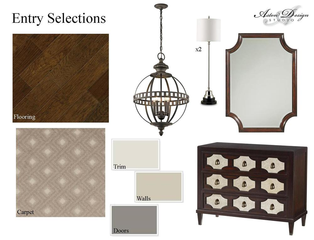 Entry selections  | Digital storyboard by interior designer Carla Aston