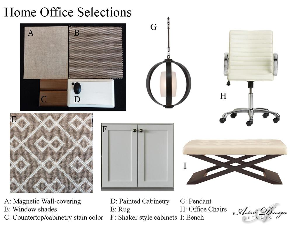 Home office solutions  | Digital storyboard by interior designer Carla Aston