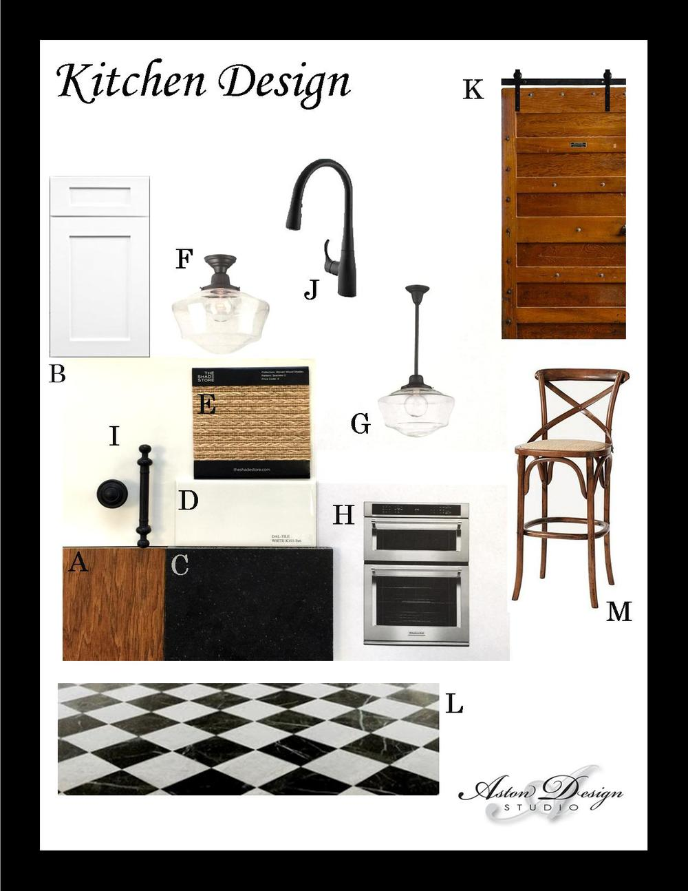 Kitchen design | Digital storyboard by interior designer Carla Aston
