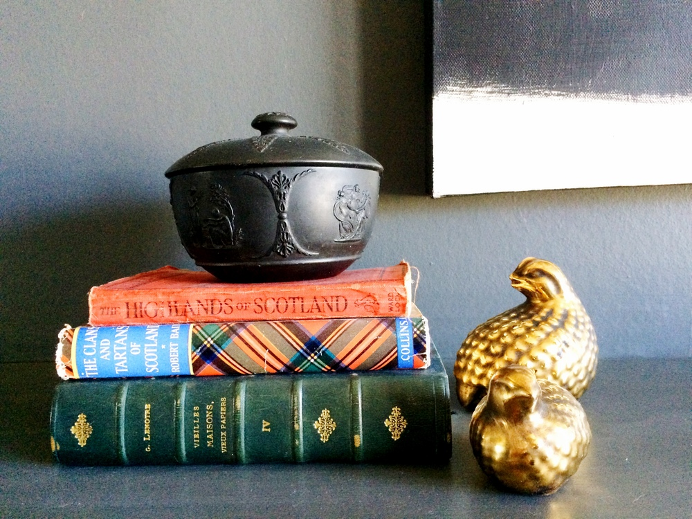 Decor; book; bowl | Remodeled by Deborah Peterson Milne