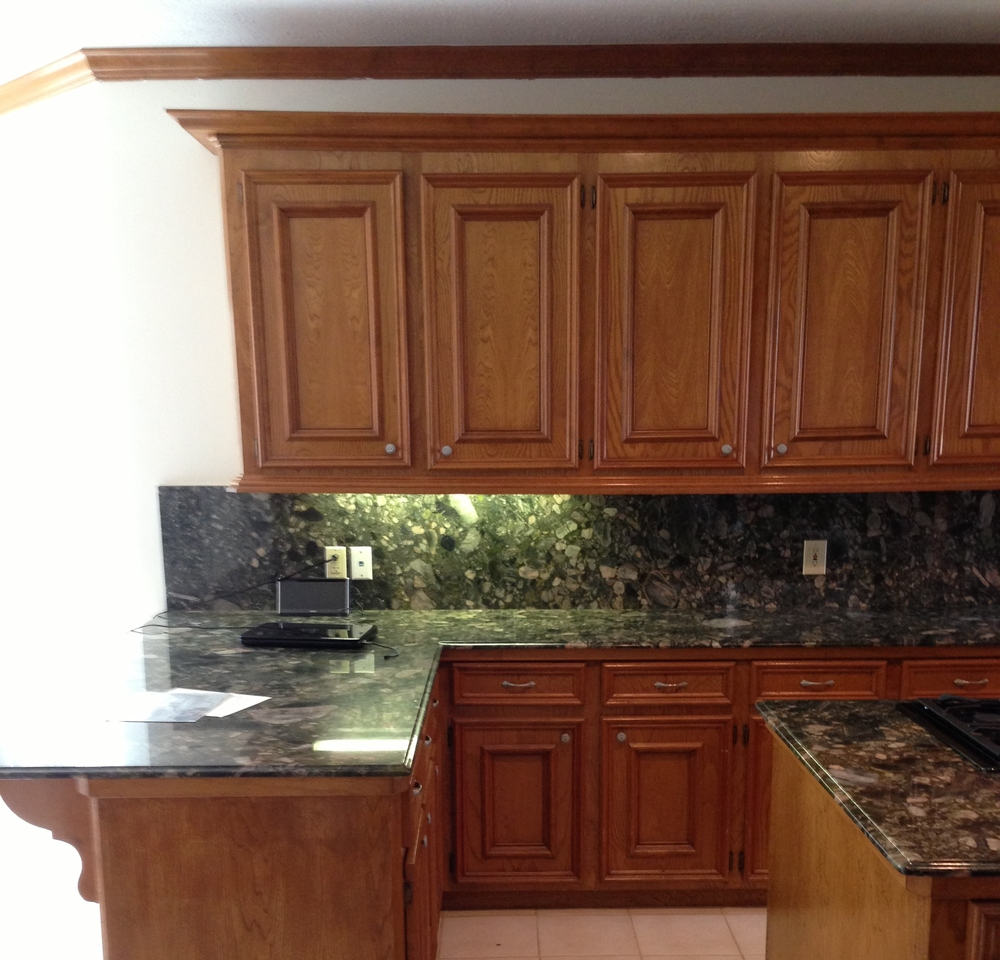 Kitchen cabinets redo - BEFORE image| Interior Designer: Carla Aston