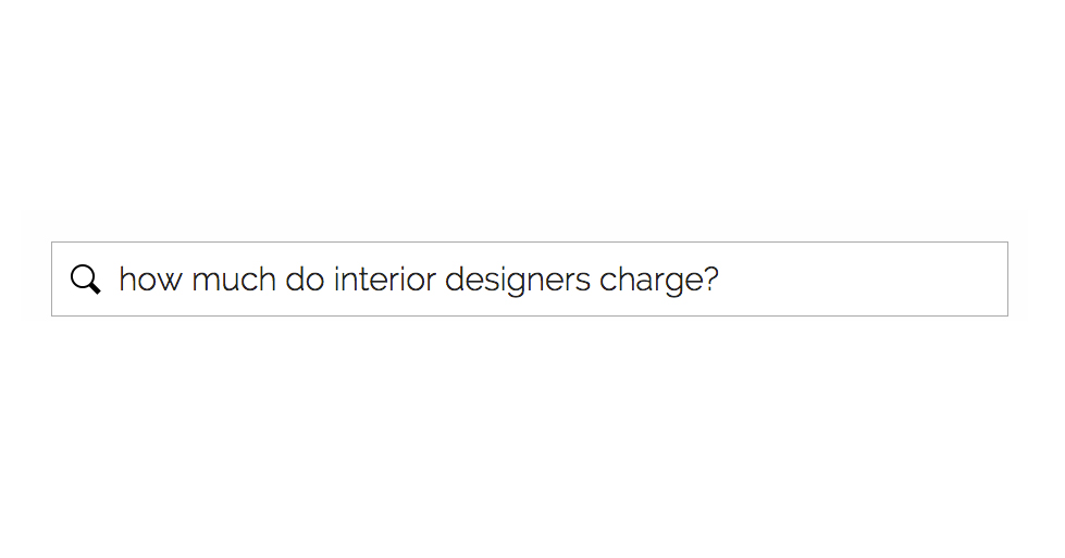 How much do interior designers charge for a remodel design for What do interior designers charge