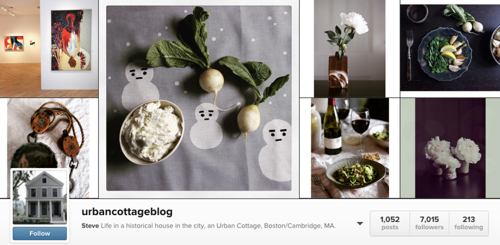 Follow urbancottageblog for incredible images of food, gardens, flowers, interiors, and life on the east coast.