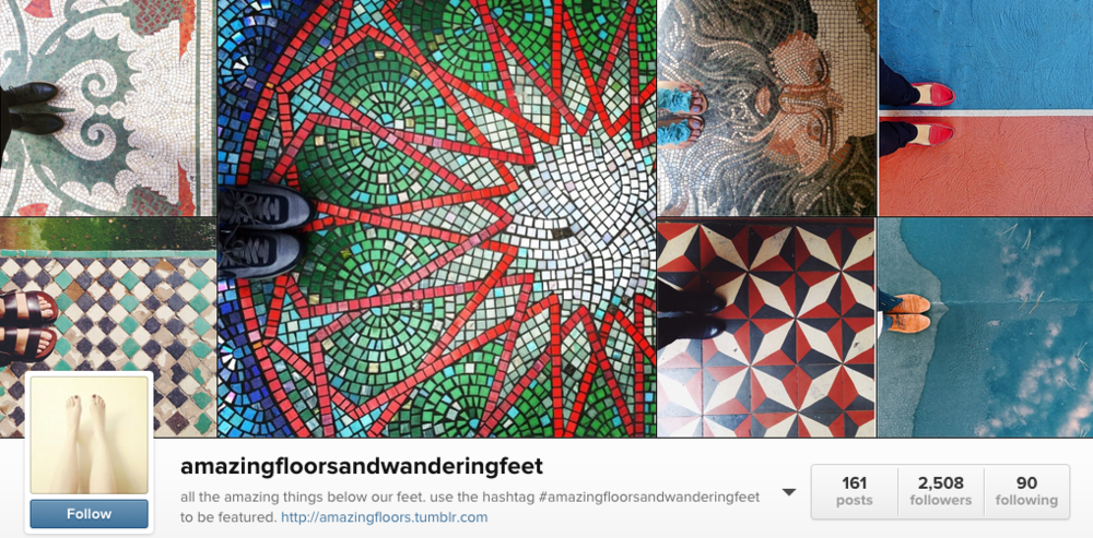 amazingfloorsandwanderingfeet  is another profile featuring amazing floors.