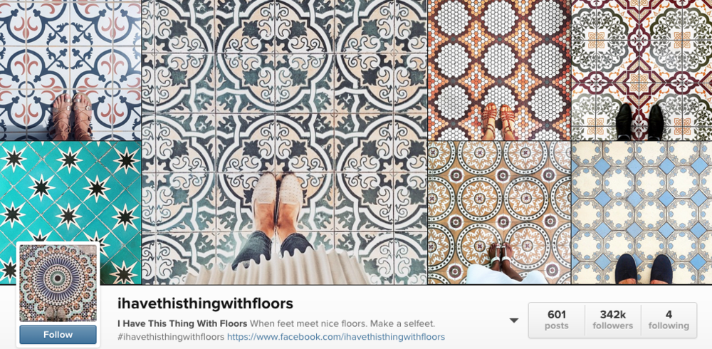 ihavethisthingwithfloors is an amazing Instagrammer who posts the most incredible tile floor pics you've ever seen.