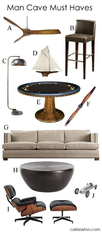 The Super Bowl is coming up, but your man cave is turned upside down. Grab these must have furnishings and decor so your party won't look like a bust.