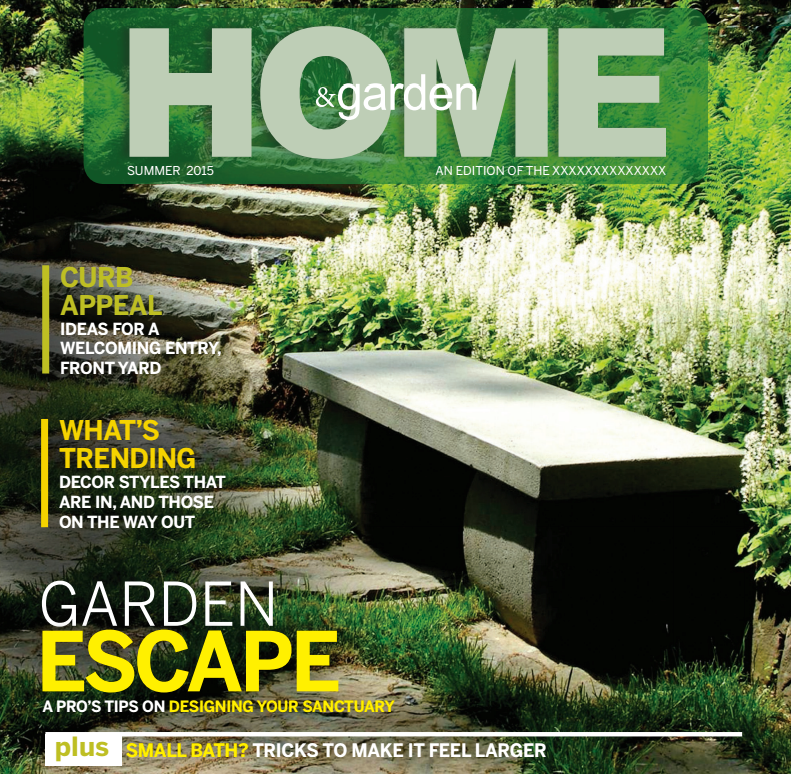 "House & Garden , ""Tips & Tricks To Enlarge Your Small Bath"", June 2015"