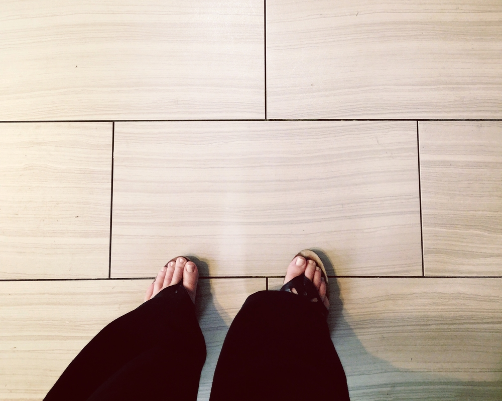 porcelain tile floor in kitchen