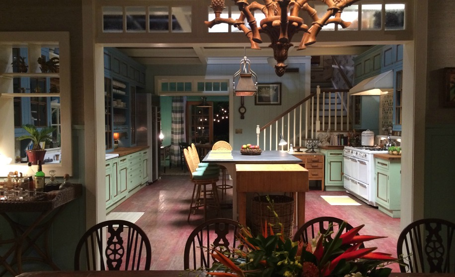 """Bloodline"" house; kitchen; dining room 