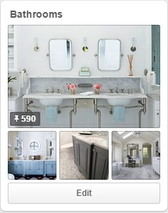 Check out my Bathrooms board on Pinterest