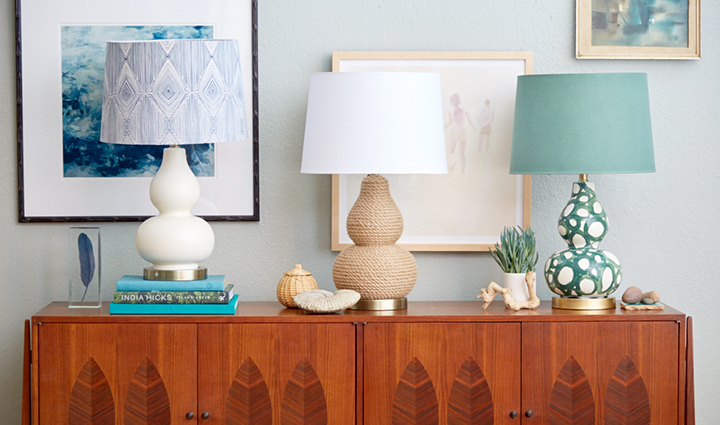 MUST-SEE: 1 Lamp, 3 Different Ways > http://stylebyemilyhenderson.com/blog/1-lamp-3-different-ways — Here's an interesting little DIY from Emily Henderson. One lamp, three ways. Very cool. (Now for the time to do it!)  | Image Source: Target.com