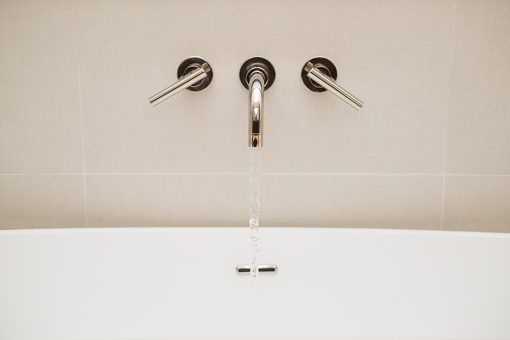 Master bathroom remodel; bathtub filler | Interior Designer: Carla Aston / Photographer: Tori Aston