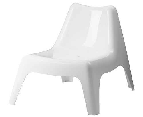 IKEA PS VÅGÖ - Armless chair, outdoor, white