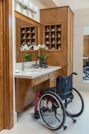 bathroom remodel featuring universal design accessible bathroom curbless shower linear drain. beautiful ideas. Home Design Ideas