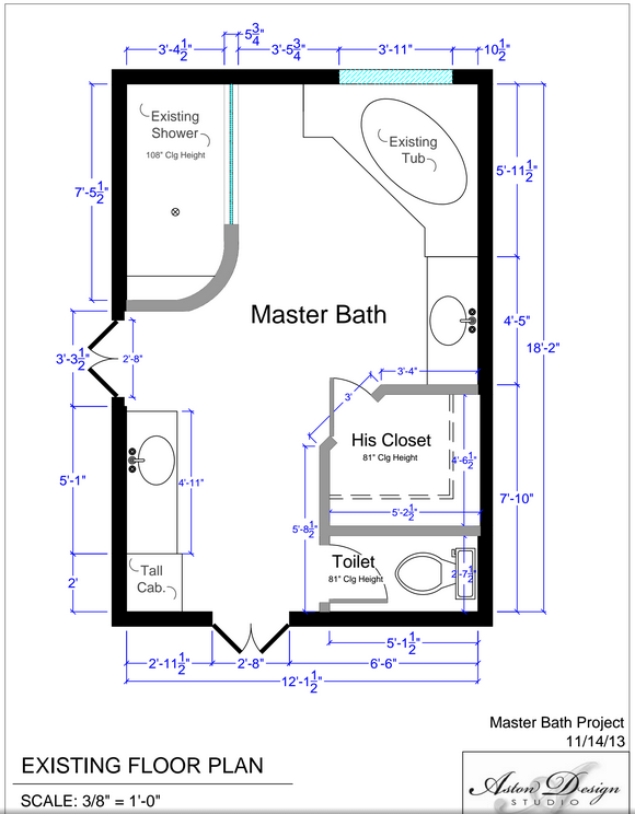 Before Amp After An Accessible Master Bathroom Is Created