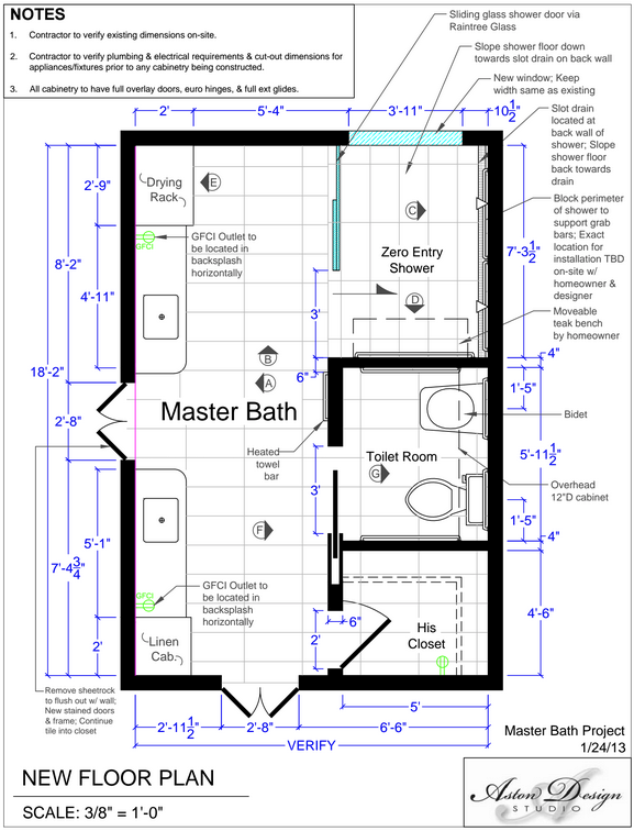 Before after an accessible master bathroom is created using universal design principles Universal design bathroom floor plans