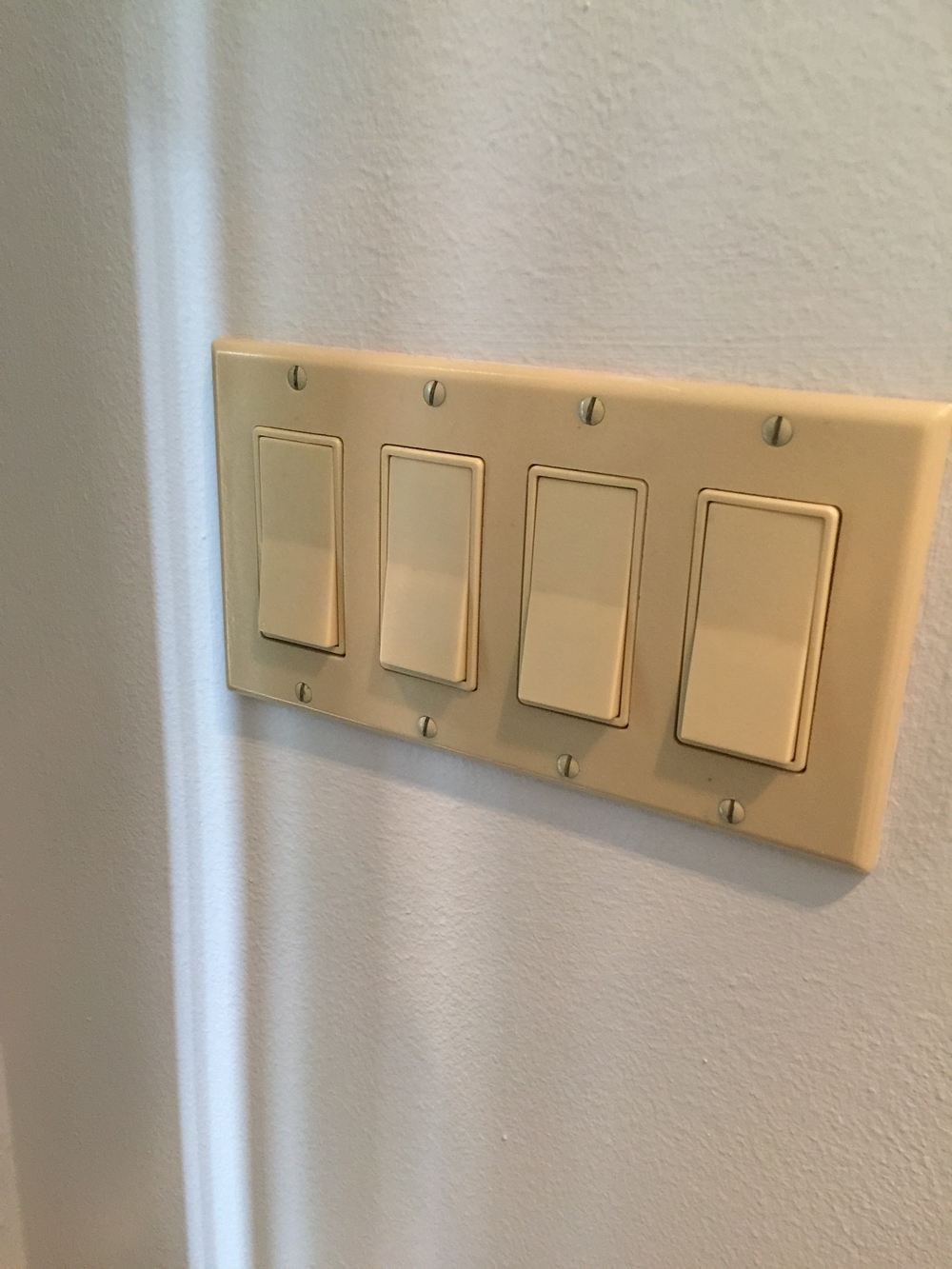 Ivory switches and outlets to go.