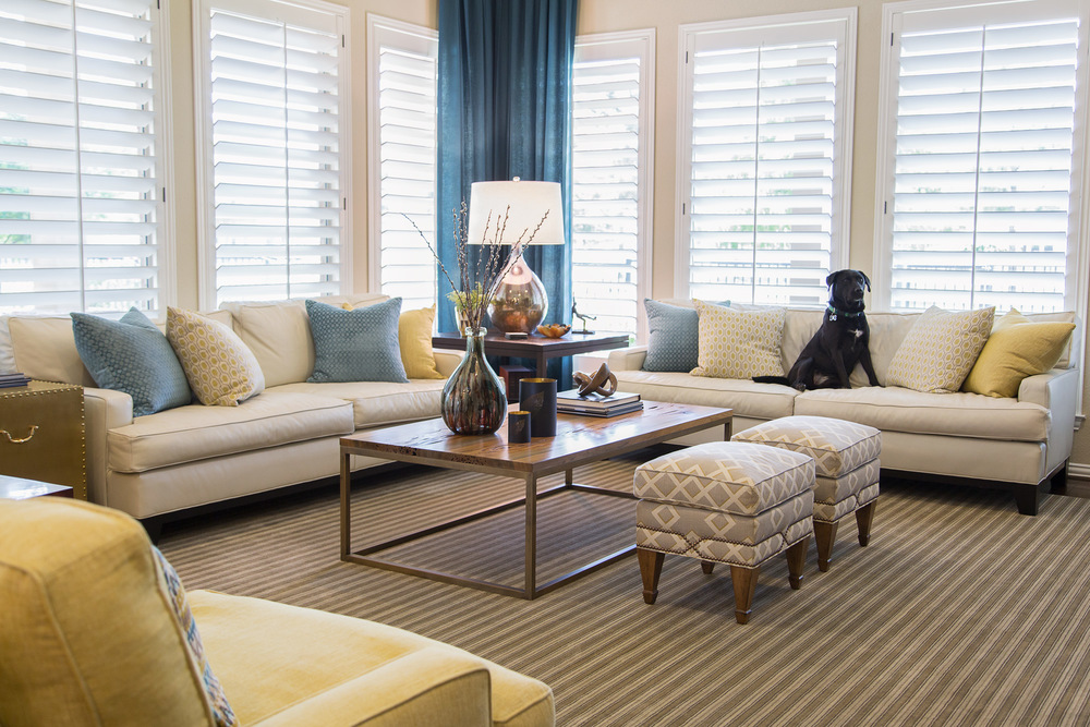 Warm and personal transitional interior, Designer: Carla Aston