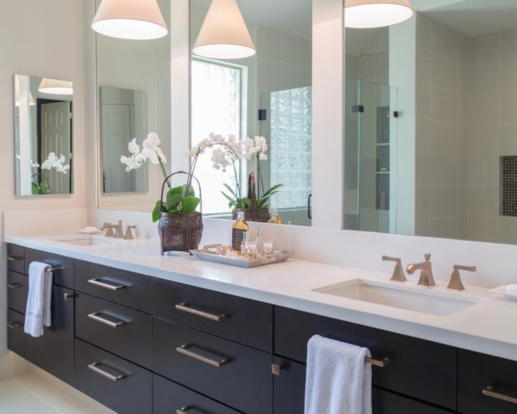 Bathroom Remodel Vanity Cabinetry Mirror Decor Lighting Sinknbsp