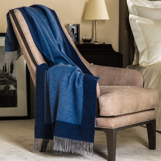 Available @ Frette.com: A Light Blue Double Face Throw |  Click here to purchase!