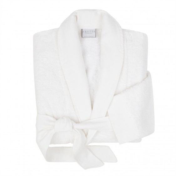 Available @ Frette.com: White Shawl Collar Bathrobe |  Click here to purchase!