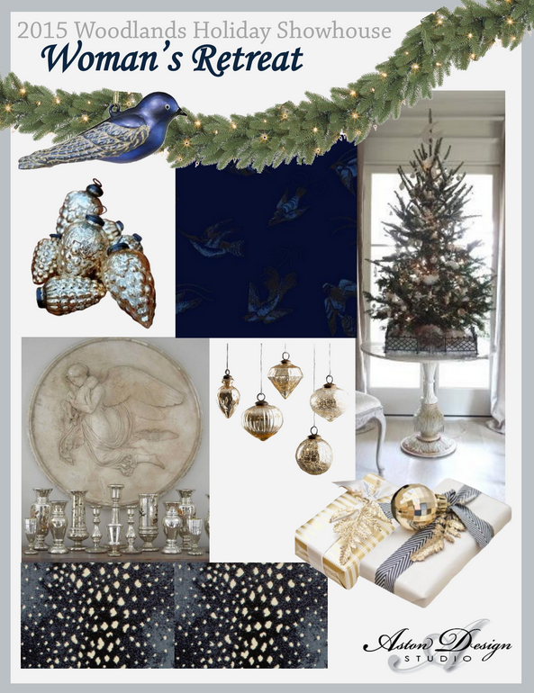2015 Woodlands Holiday Showhouse - A Woman's Retreat | By Interior Designer Carla Aston