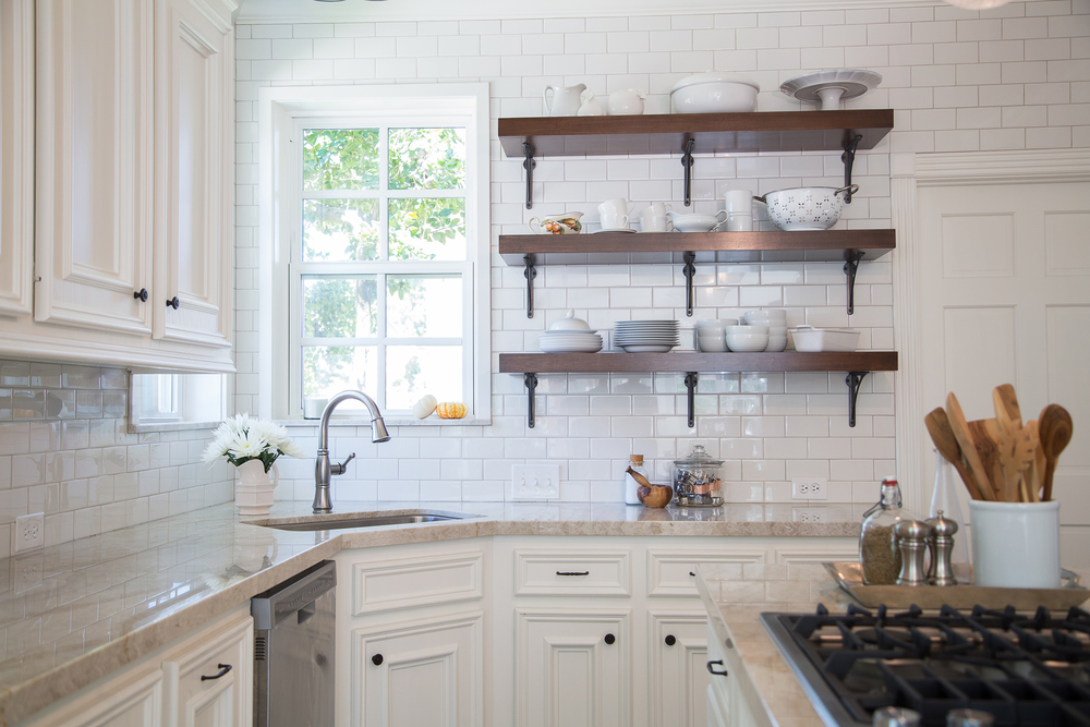 Open Shelving Means a Brighter Kitchen