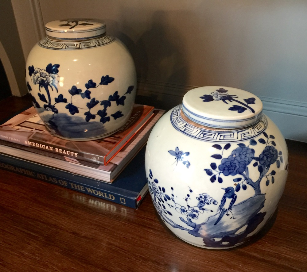Blue and White Ginger Jars - $72.00 ea. | Email me to arrange your purchase!