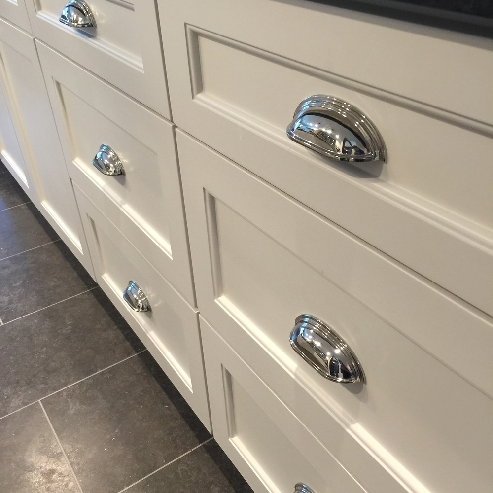 Wide deep drawers closed | interior Designer: Carla Aston