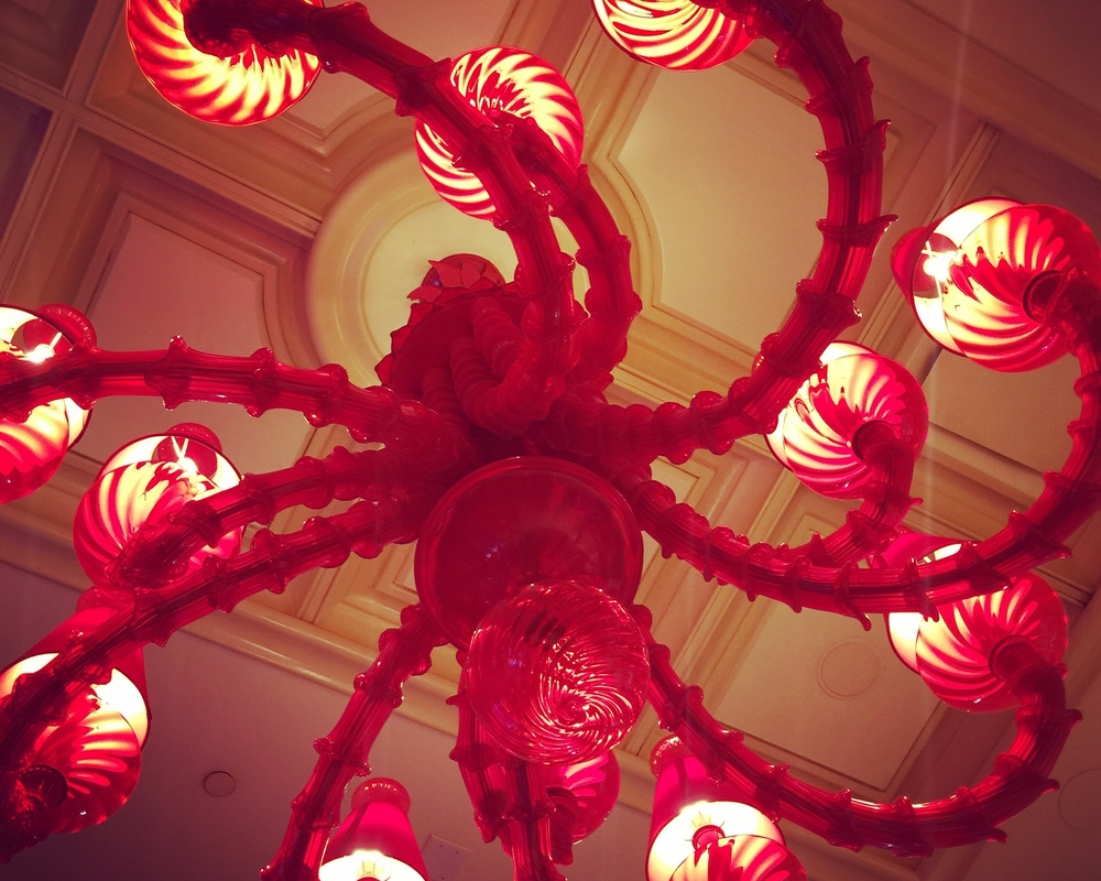 Fabulous chandeliers at the Wynn Hotel | #KBIS2016