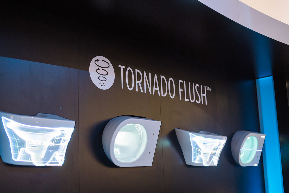 Toto's Tornado Flush technology