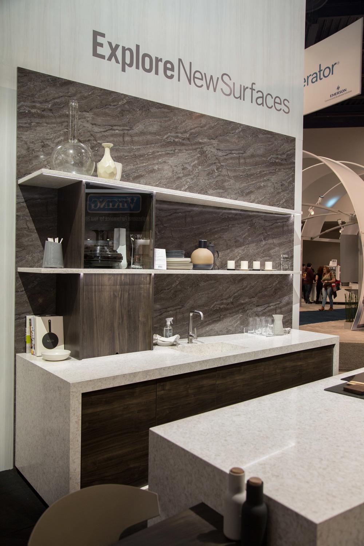 Wilsonart Quartz surfaces for the kitchen, bathroom | Photographer: Tori Aston, courtesy of Modenus