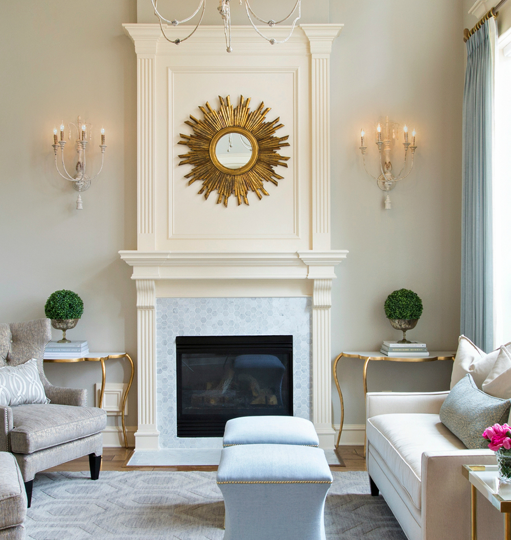 Fireplace | Interior designer:Amanda Carol Interiors