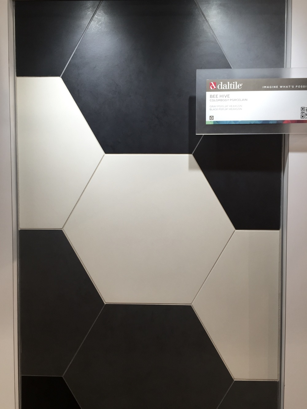 ONTREND The Hex Beehive Tile Shape See Why DESIGNED - Daltile black and white floor tile