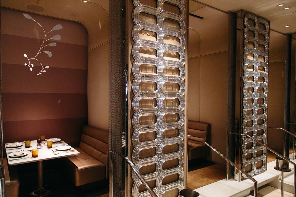 Wynn Hotel, Andrea's restaurant, booths  | Photographer: Tori Aston