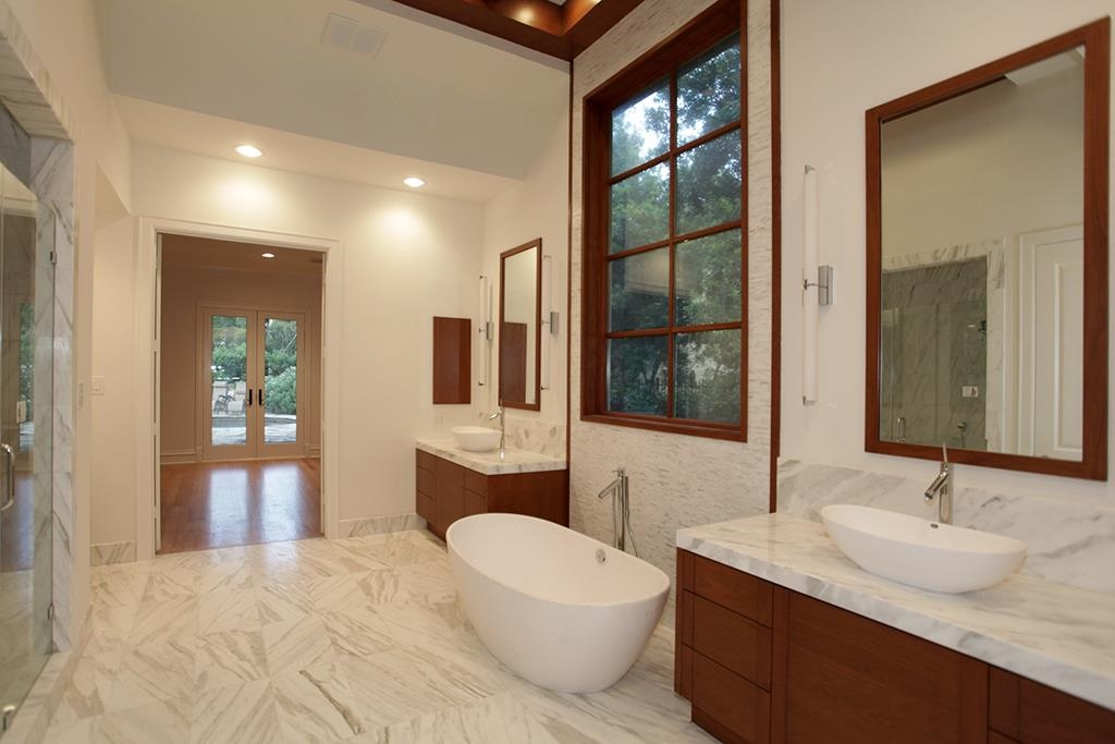 Simple BEFORE u AFTER A Striking And Unusual Contemporary Master Bath Remodel u DESIGNED
