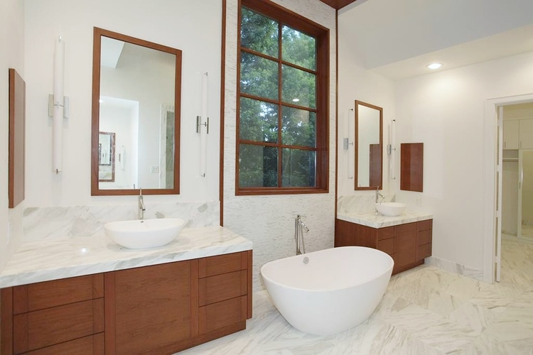 After - Contemporary Bathroom - Window | Interior Designer: Carla Aston