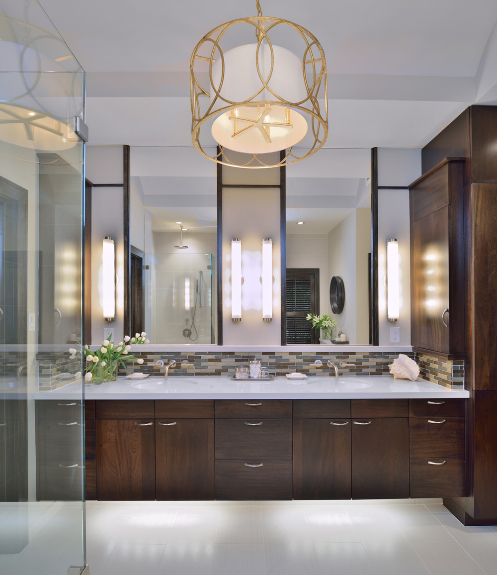 Tall Mirrors Will Make Your Bathroom Grow & Glow