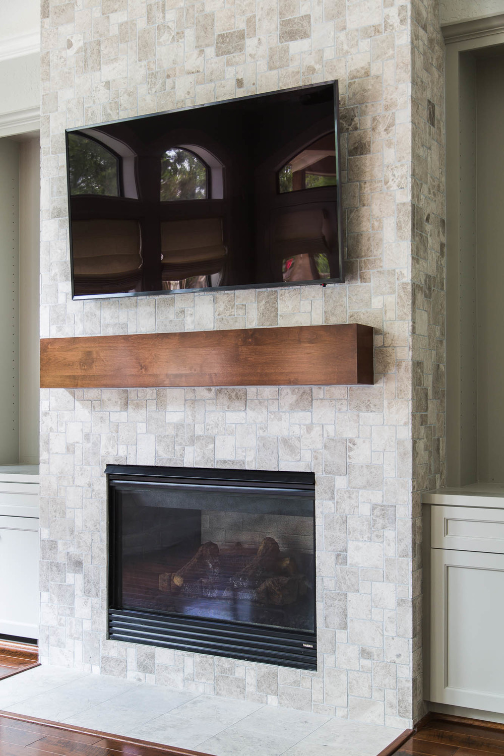 Your fireplace wall 39 s finish consider this important detail with tile or stone cladding designed - Fire place walls ...