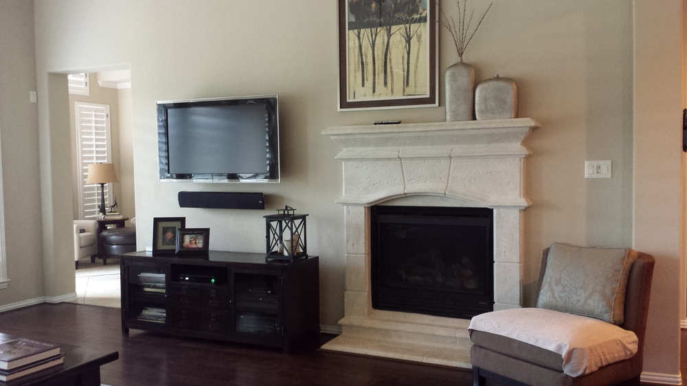 Before - Fireplace Remodel