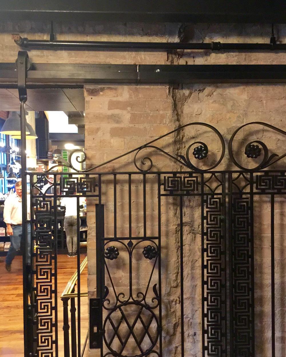 Wrought Iron Barn Door - Larder