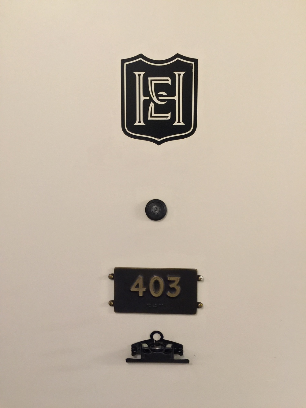 Room Door Details - Hotel Emma