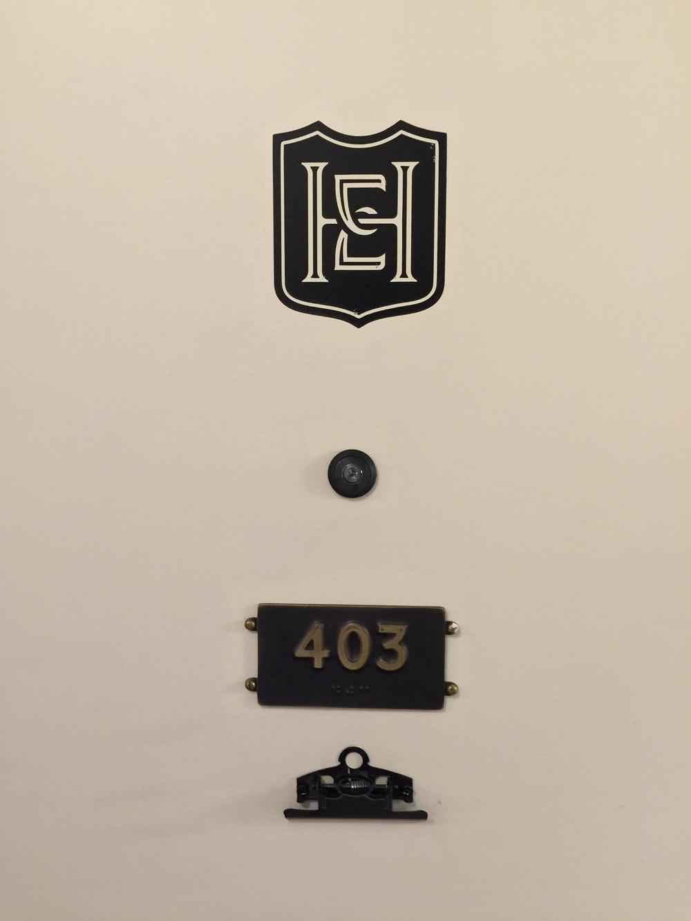 Room Door Details - Hotel Emma