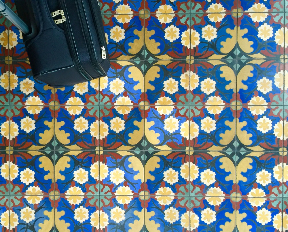 Tile Floor - Reception, Hotel Emma