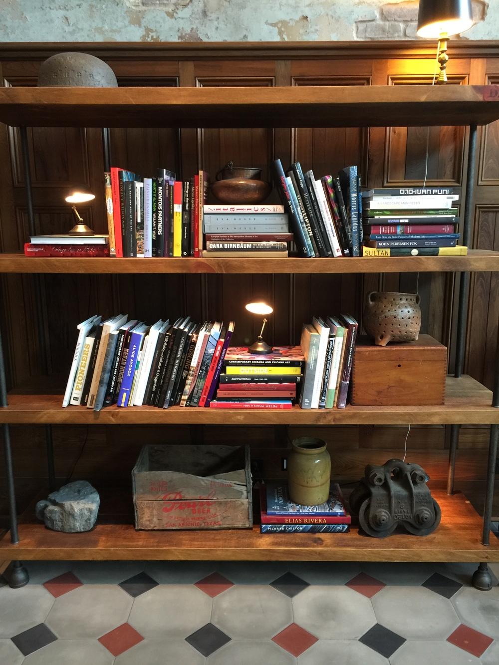 Lobby Bookshelf - Hotel Emma
